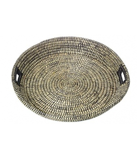 Round Serving Tray with Grip XL