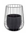 Pot in a cage - Black