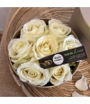 box of roses white S